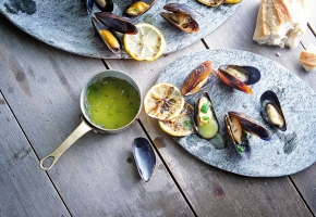 Grilled Mussels on the Half Shell