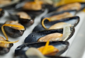 Sherry, Fennel & Orange Marinated Mussels